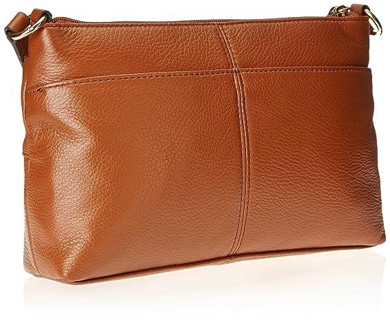 Amazon.com: Calvin Klein Pebble piel bolso bandolera, Marrón ...