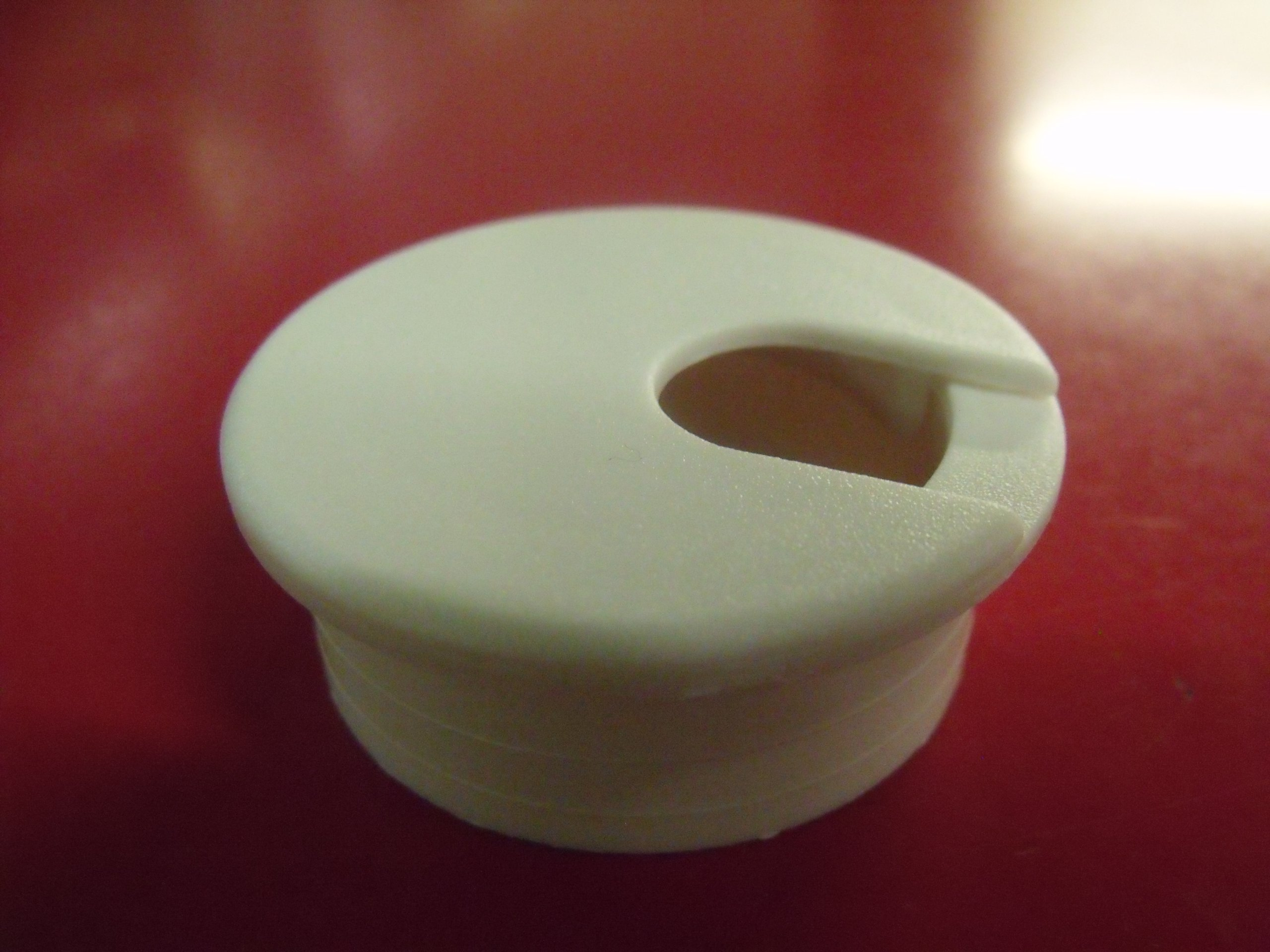 1-3/4'' White Cord Grommet (5 Pack) 11039WH