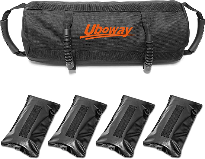 UBOWAY Workout Fitness Sandbag - 10 to 40 lbs Adjustable Weight Heavy Duty Force Sandbags for Home Gym,Cross-Training, Exercise and Military Conditioning