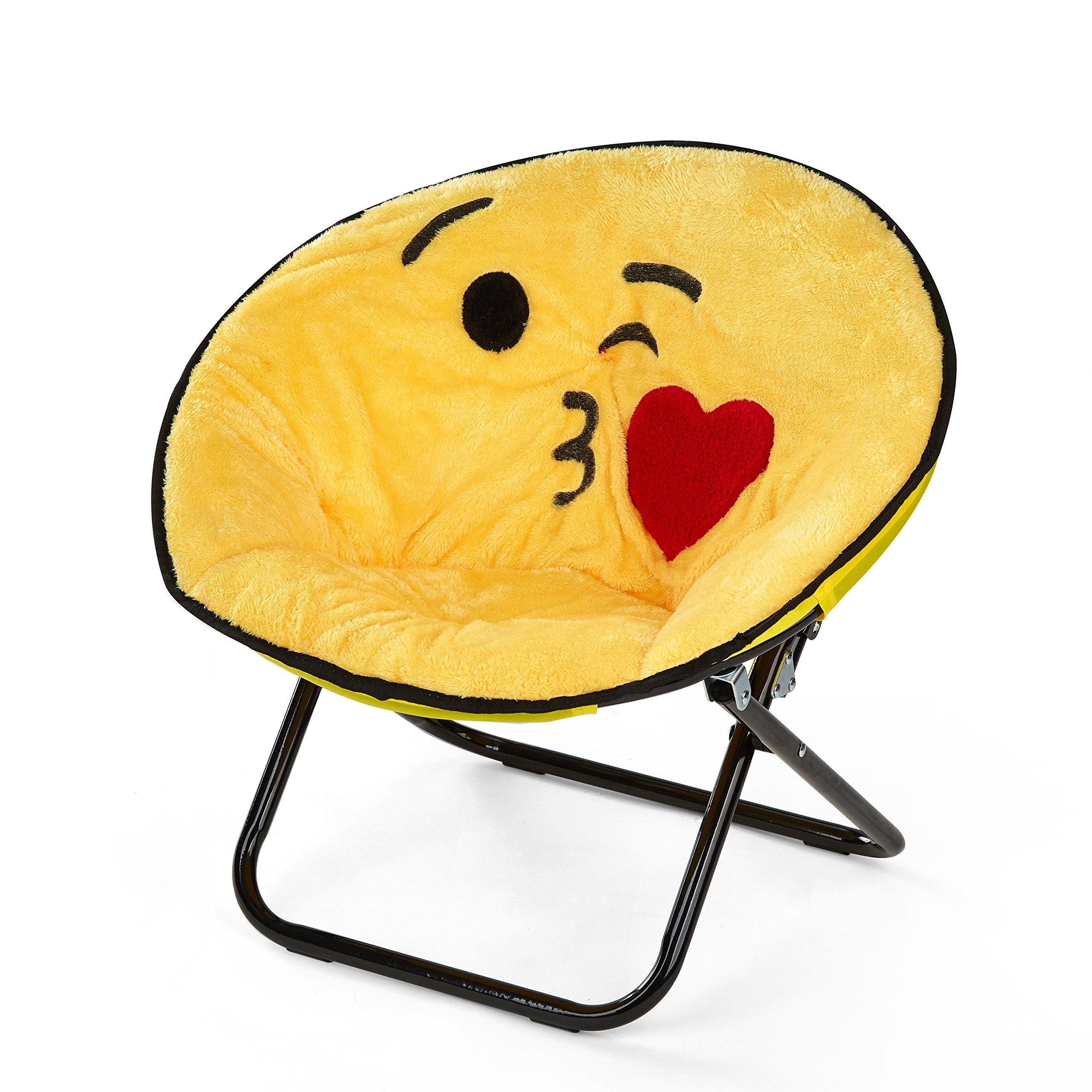 Emoji Pals NK656914 Kissy Kids Saucer Chair