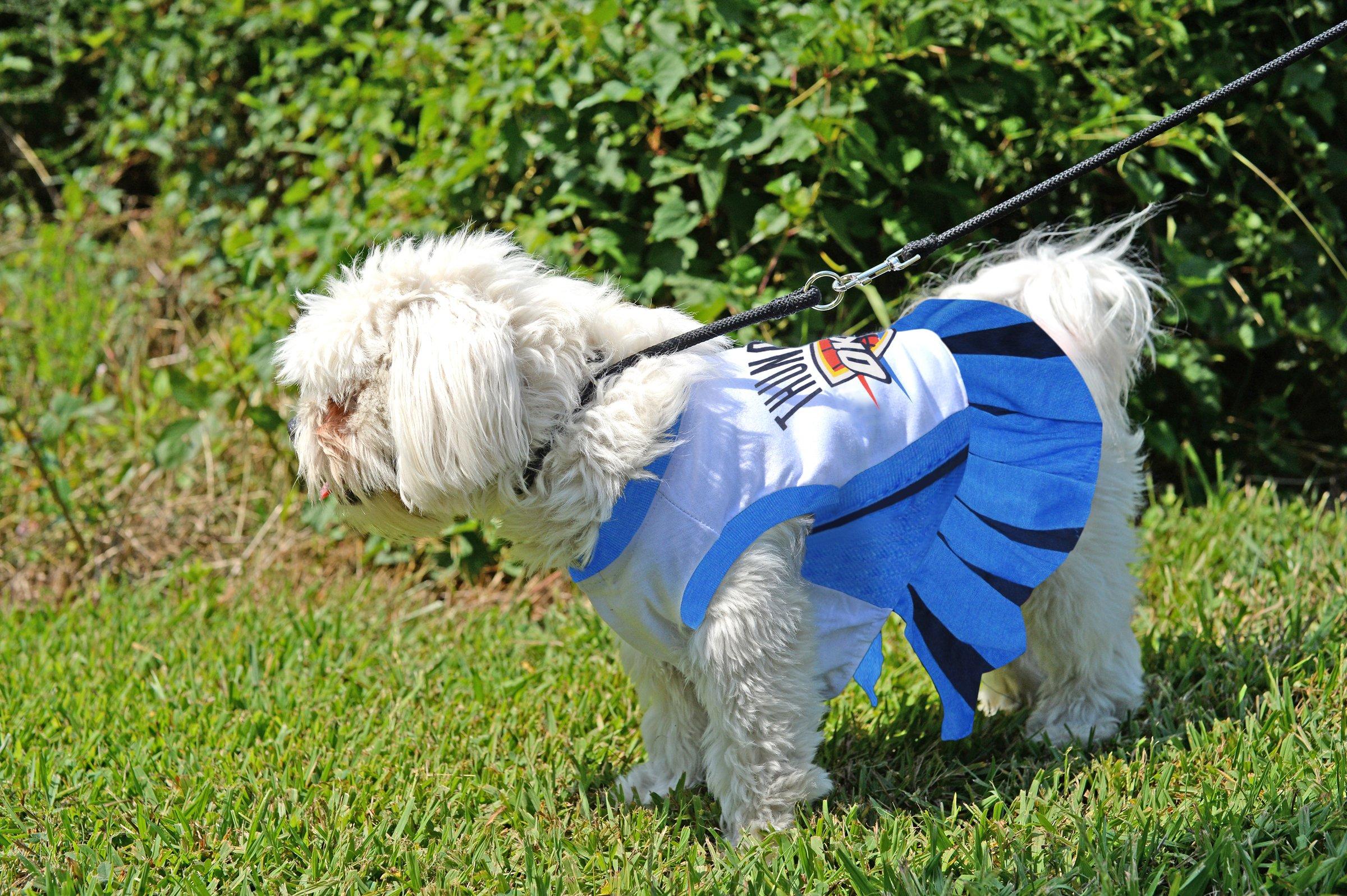 Pets First NBA Oklahoma City Thunder Dog Cheerleader Dress, Medium by Pets First (Image #4)