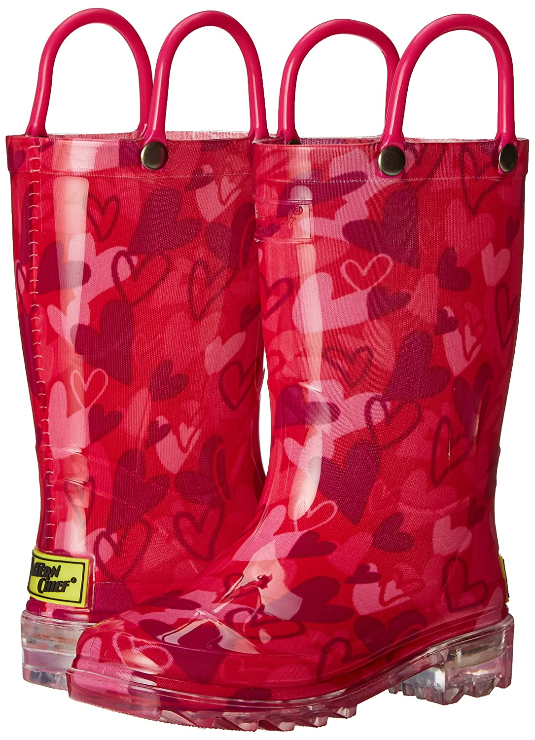 Western Chief Girls Waterproof Rain Boots That Light up with Each Step