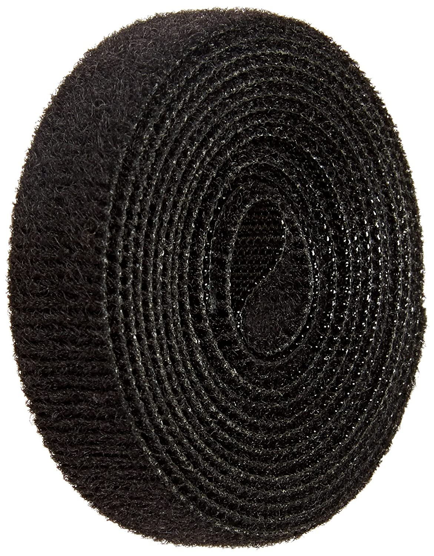VELCRO 1801-OW-PB/B Black Nylon Onewrap Velcro Strap, Hook and Loop, 1/2' Wide, 5' Length 1/2 Wide 5' Length CS Hyde Company Inc 1801-OW-PB/B-5