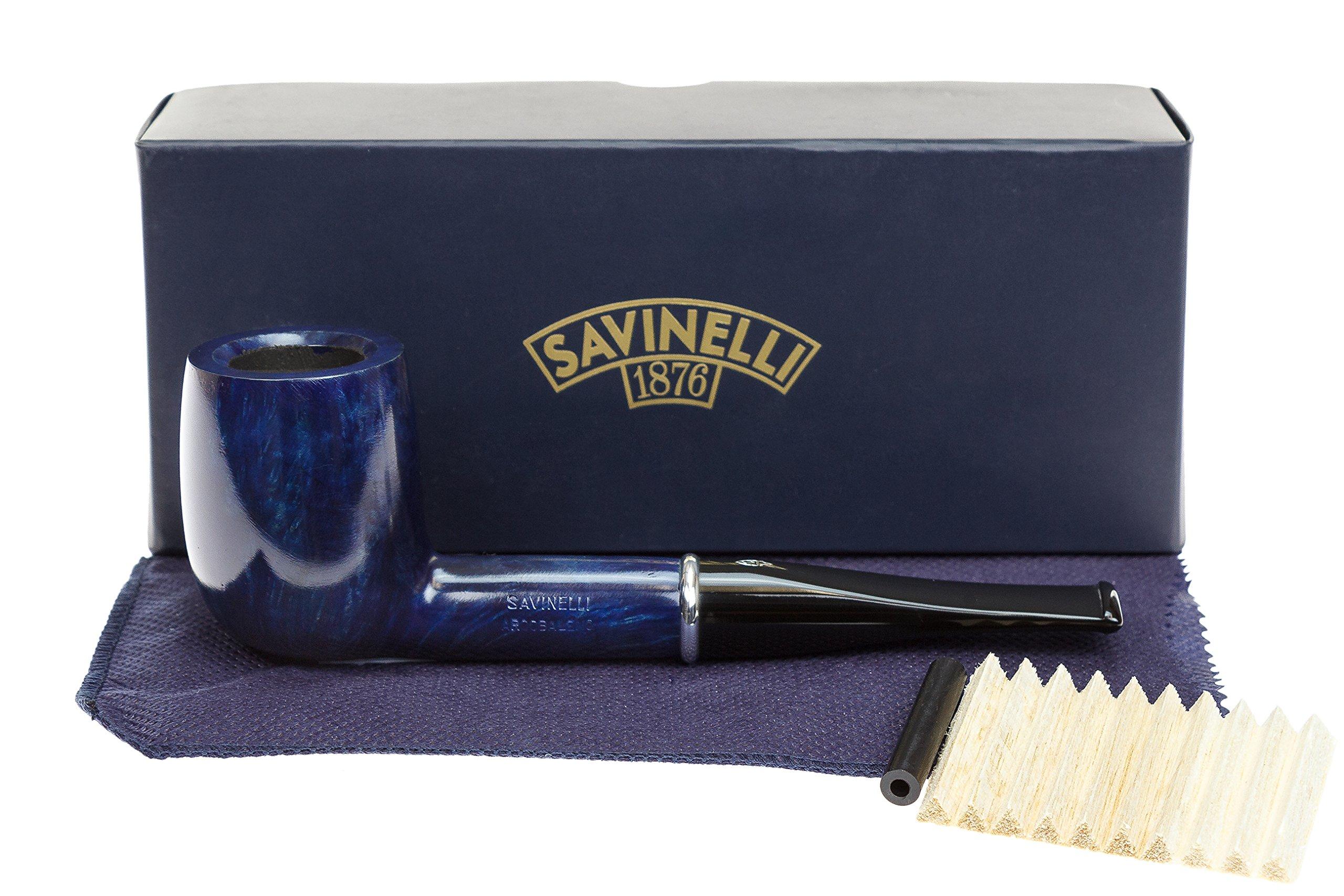 Savinelli Arcobaleno 111 Blue Tobacco Pipe - Smooth