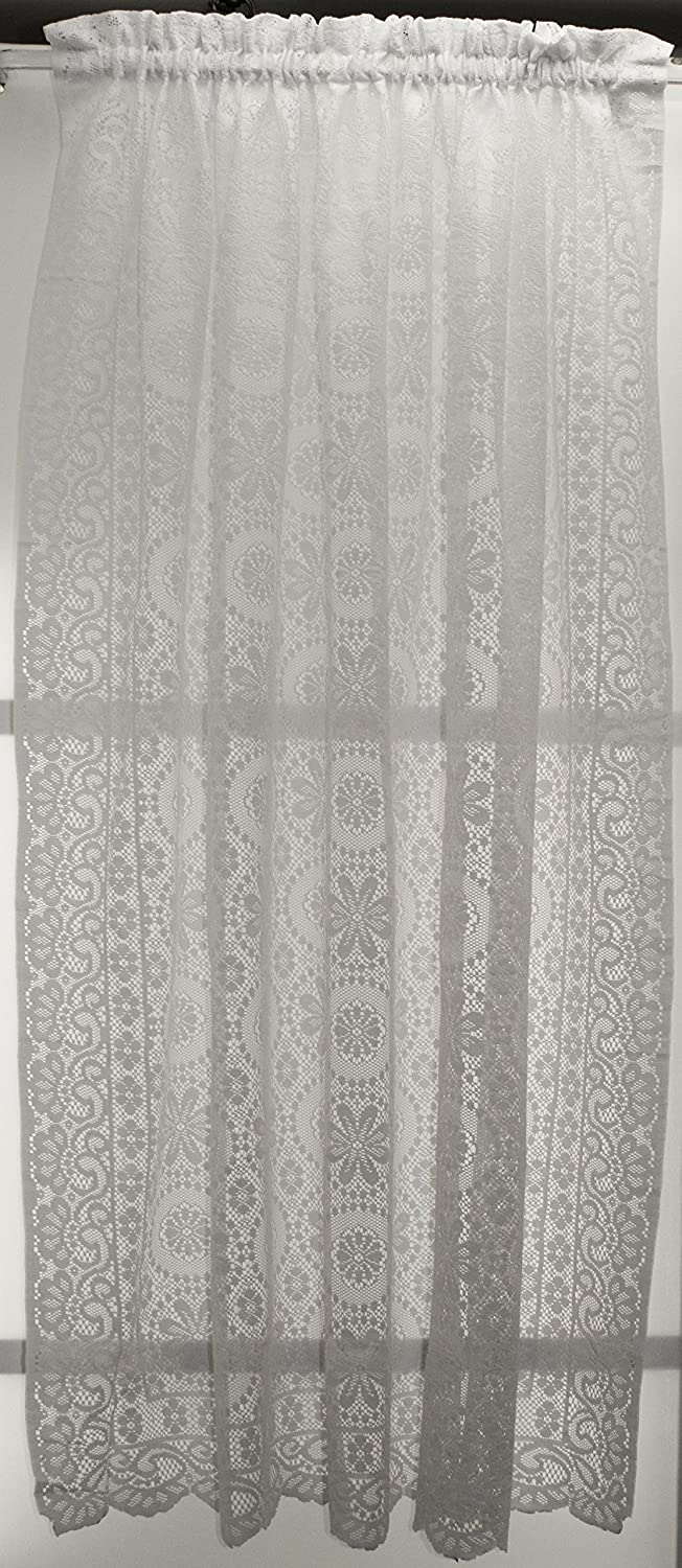 Newhope Daisy Lace Design Valance 58Wx12L Cream Lorraine Home Fashions