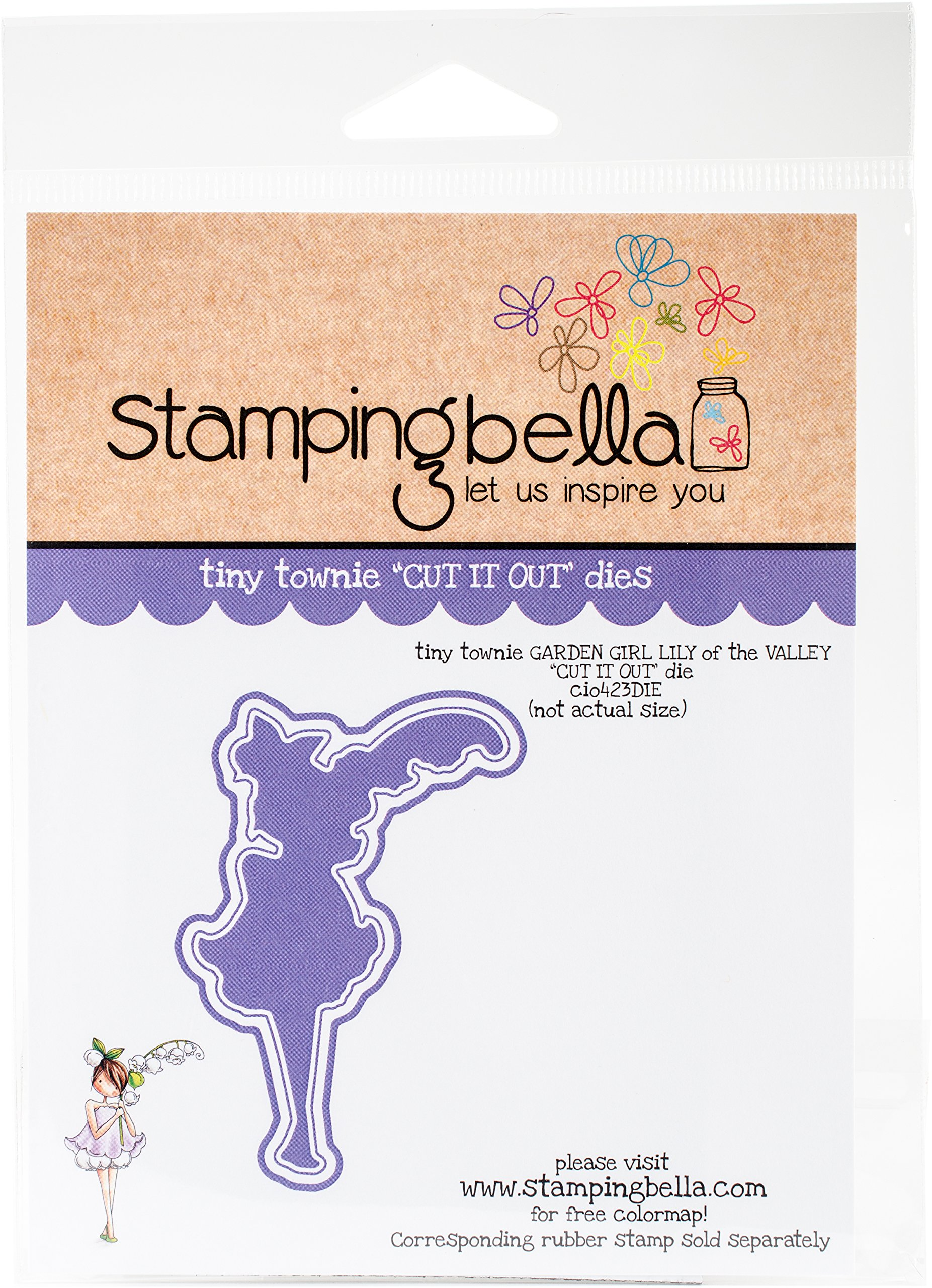 Stamping Bella CIO423DIE Cut It Out Dies-Garden Girl Lily of The Valley
