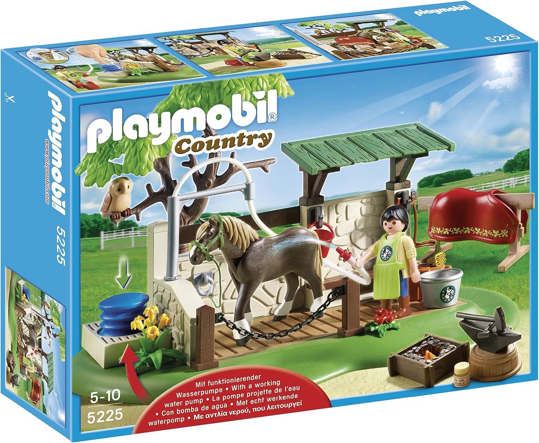 PLAYMOBIL - Ducha para Caballos, Set de Juego (5225)