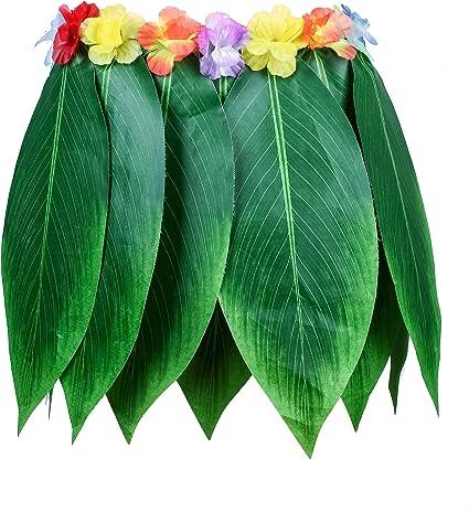 Good Night Falda Hawaiana Verde de Hula de la Hoja Falda ...