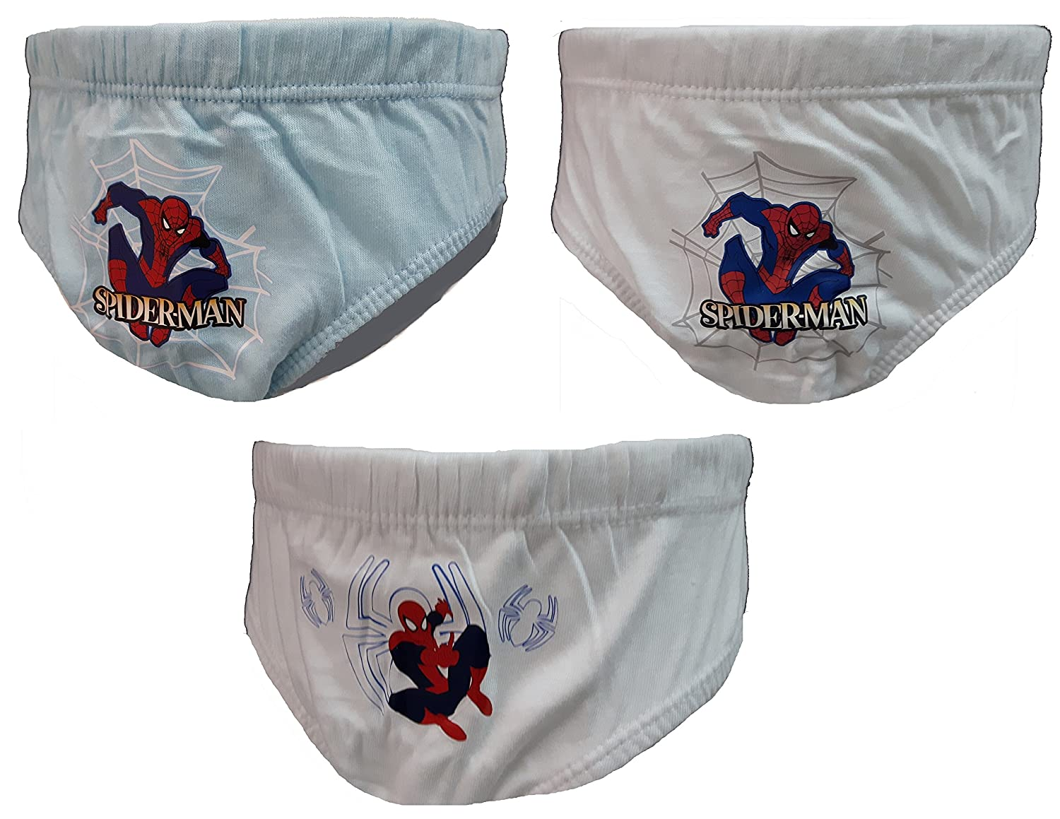 6 slip bimbo SPIDERMAN marvel puro cotone art. MV13001 (8-9 anni)