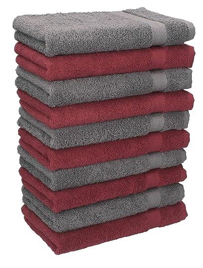 Betz. Set di 10 lavette misura 30 x 30 cm 100 % cotone Premium colore 60ac57917e7a