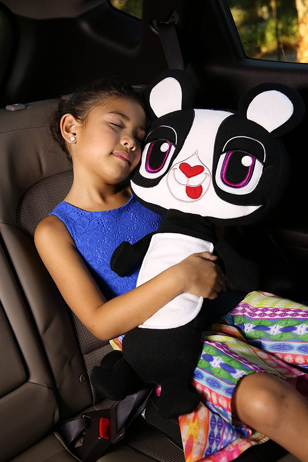 Seat Pets Panda by Jay at Play /– As Seen on TV - Kids Seat Belt Car Travel Pillow and Plush Animal Toy /– Compatible with Any Safety Belt to Provide Head /& Neck Support