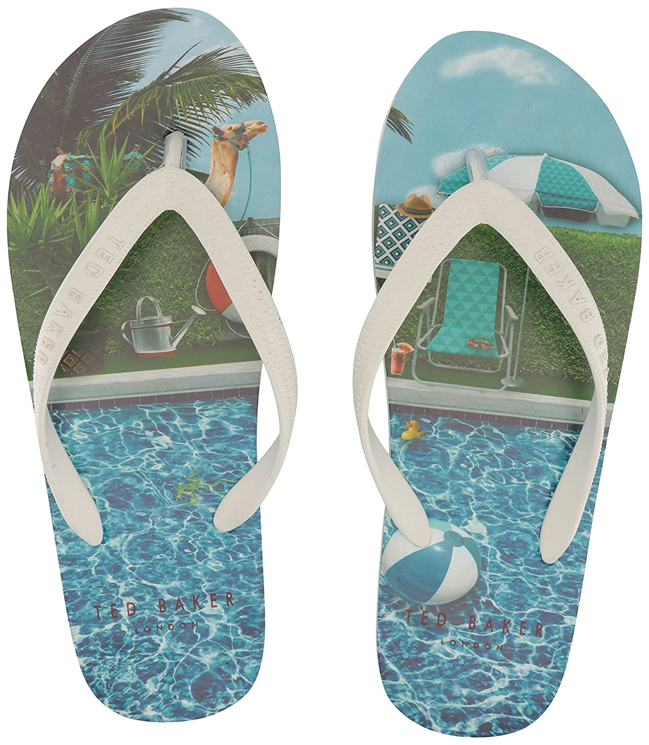 5610e5b929545 Amazon.com  Ted Baker Men s FLYXX 4 SYNT AM Flip-Flop White Multi 7 M US   Shoes