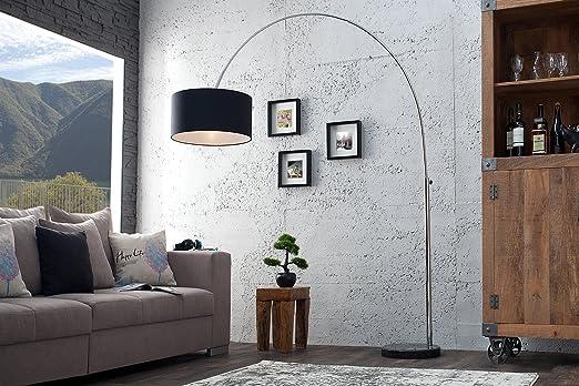 Esszimmer Lampe Bogenleuchte 180cm Retro Chrom Schwarz Beweglich