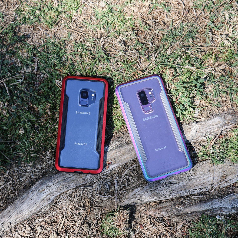 free shipping 3ebd8 41e45 X-Doria Galaxy S9 Case, Defense Shield Protective Aluminum Frame Case Thin  Design Shockproof Transparent Case for Samsung Galaxy S9, Iridescent