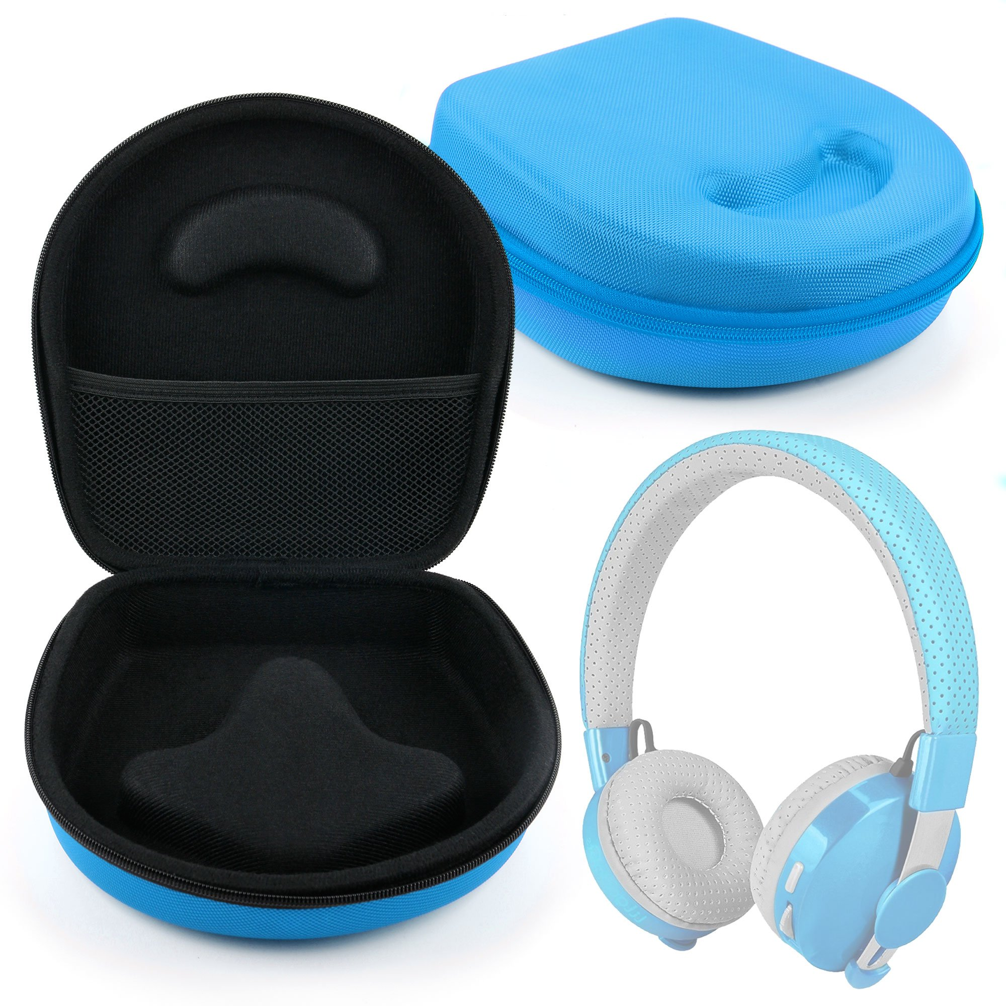 DURAGADGET Hard 'Shell' EVA Headphone Case (Blue) - Compatible with LilGadgets Untangled Pro | Connect+ Children's Wireless Bluetooth Headphones