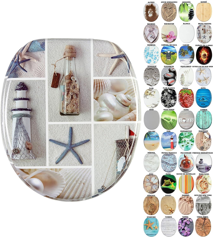 Starfish Asiento de inodoro gran selecci/ón de atractivos asientos de inodoro de madera con calidad superior y duradera