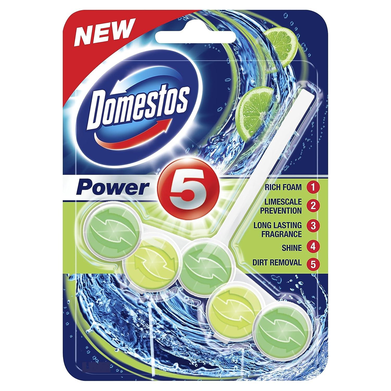 Domestos Power 5 Rim Block Lime 55 g Unilever UK Ltd TRTAZ11A