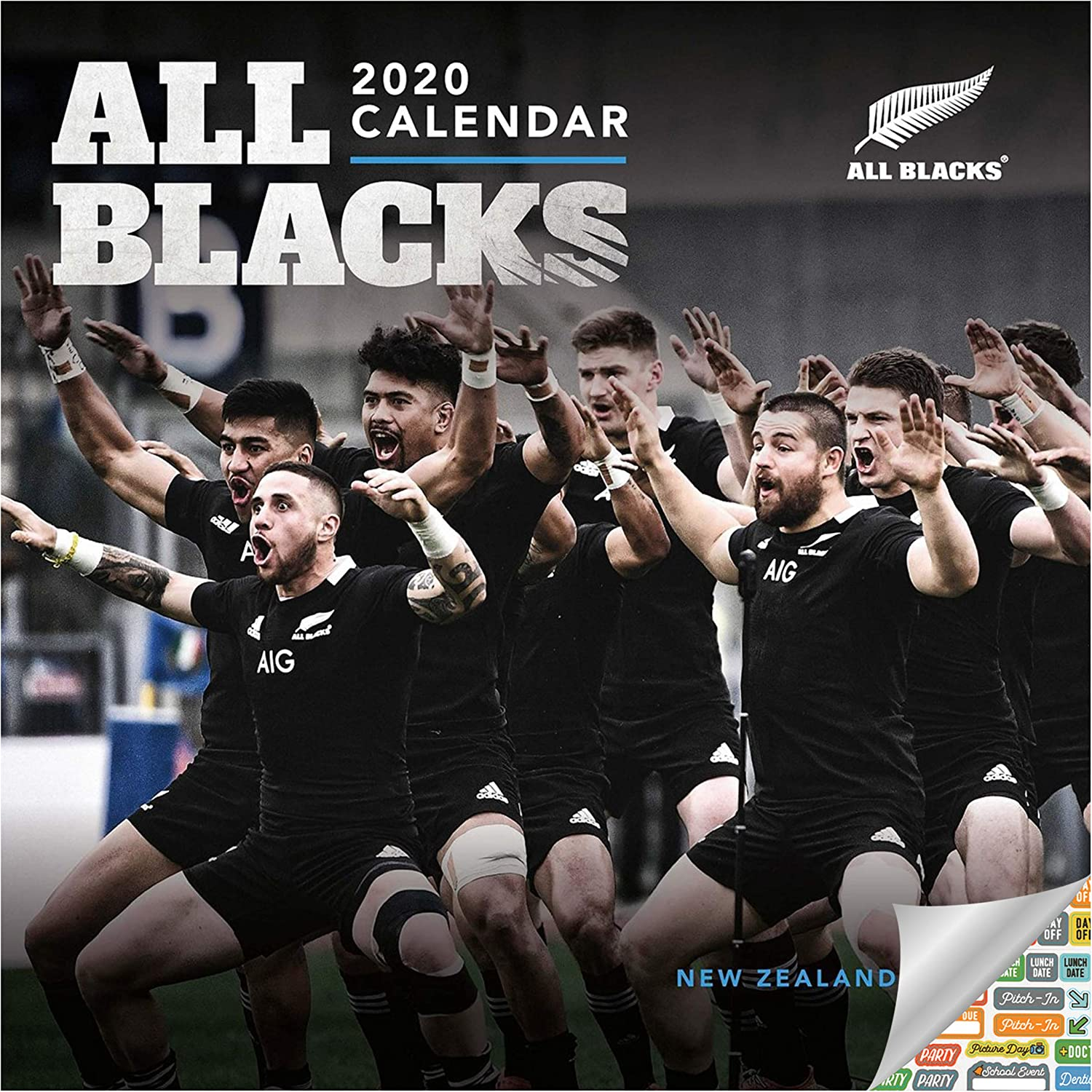 Amazon Com The New Zealand National Rugby Union Team The All Blacks Calendar 2020 All Blacks Wall Calendar Bundle With Over 100 Calendar Stickers Office Products
