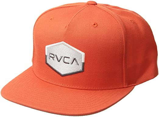 info for fb6b9 376b2 RVCA Men s Commonwealth Snapback Hat, Blood Orange ONE Size