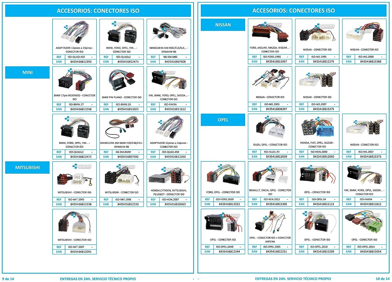 ISO-FORD.2005 - Conector iso universal para instalar radios en Ford.: Amazon.es: Coche y moto
