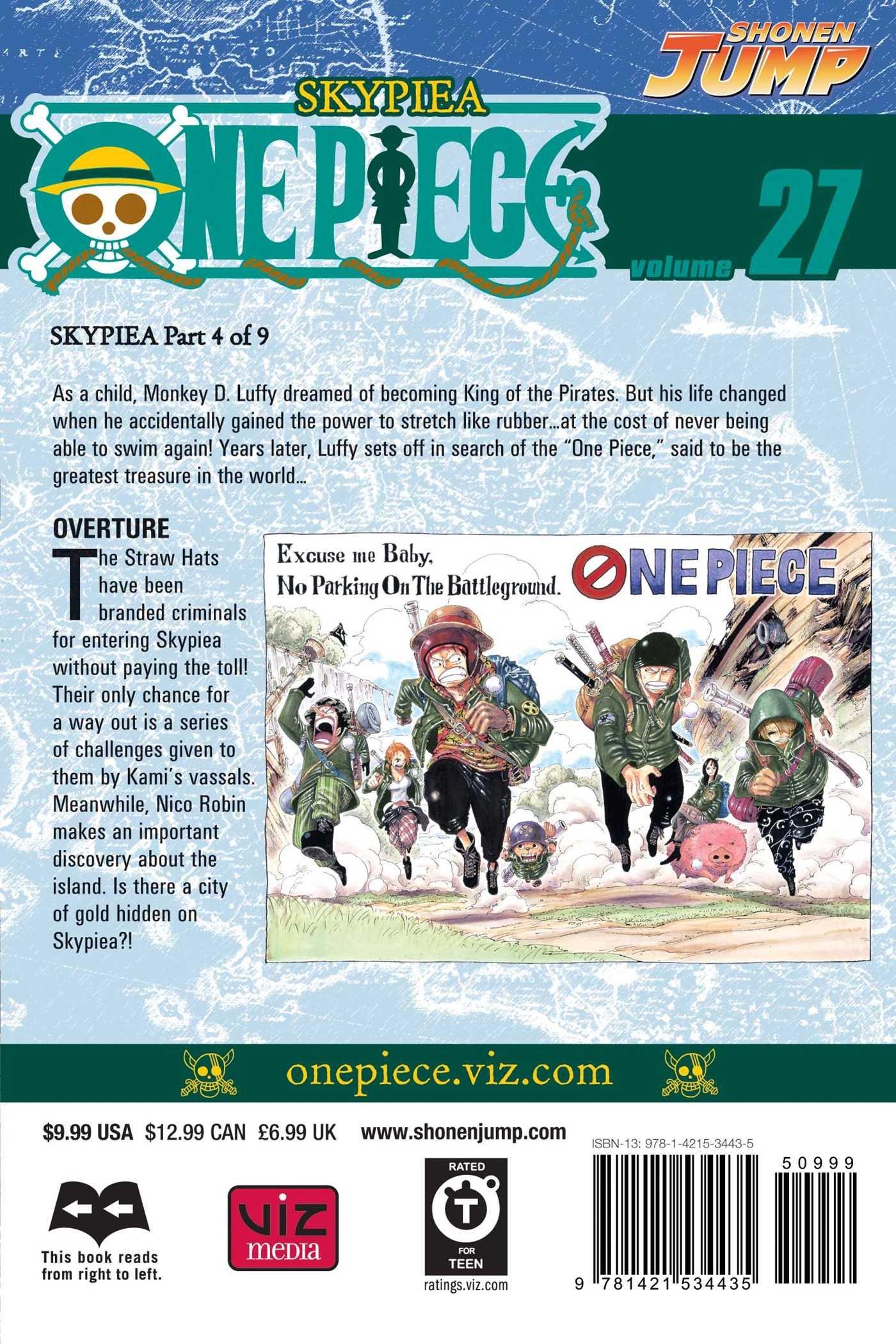Amazon com: One Piece, Vol  27 (9781421534435): Eiichiro Oda