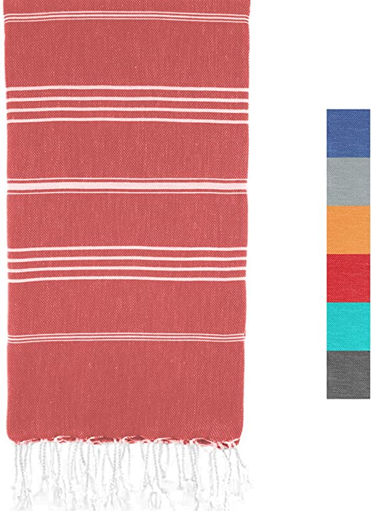 "Yoga Time Cotton Pestemal Turkish Beach Bath Towel Peshtemal 37/""X70/"" Pink Orange"