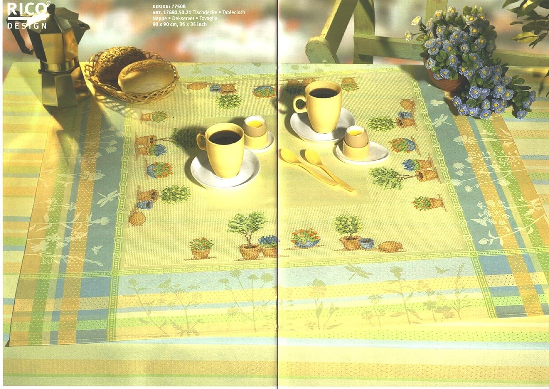 Mitteldecke 90x90 cm Stickdecke für KREUZSTICH HARDANGER Sticken FARBAUSWAHL