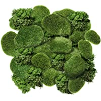 Chuangdi 20 Pieces Artificial Moss Rock Assorted Sized Decorative Faux Green Stones Green Moss Balls with 20 Gram…