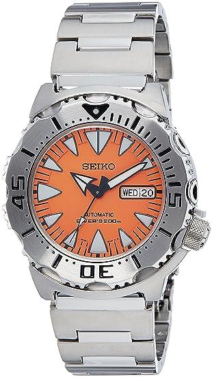 Reloj Automático Seiko para Hombre con Naranja Analogico Y Metalizado Acero Inoxidable SRP309K1