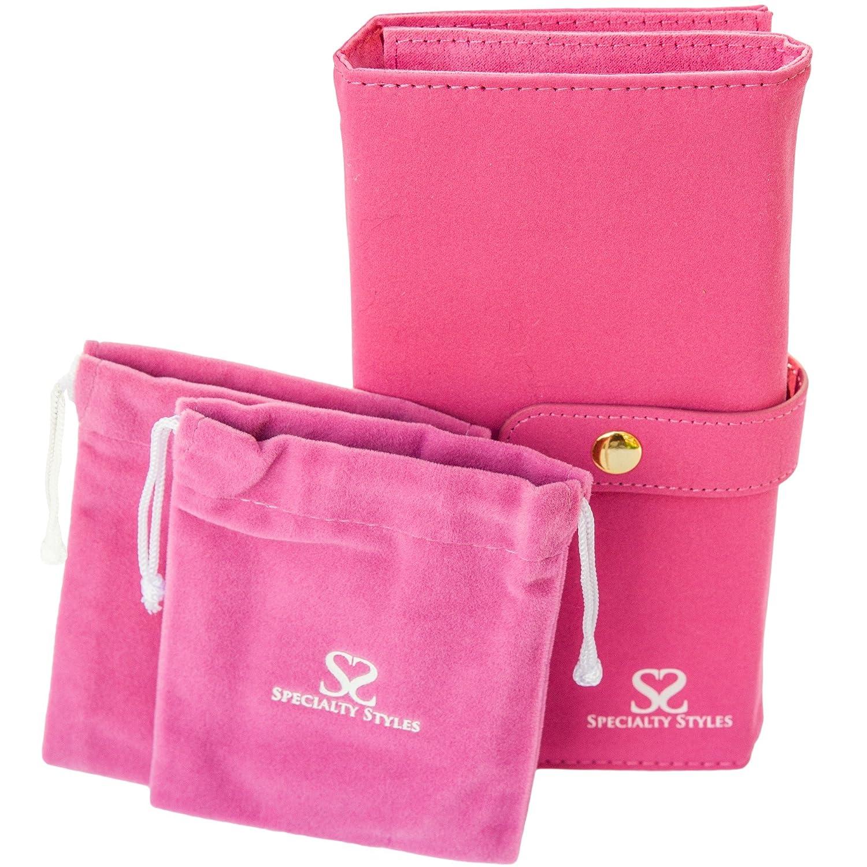 Specialty Styles - Astuccio porta gioielli da viaggio, con 2 sacchetti, pieghevole e compatto, di qualità dkproductsgroup AX-AY-ABHI-71448