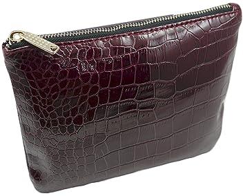 c9f18648d36 Amazon.com   Nordstrom Beauty Spot Burgundy Vinyl MakeUp Cosmetic Bag    Beauty