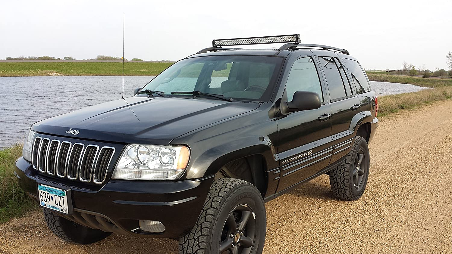 Galerry led light bar mount jeep cherokee