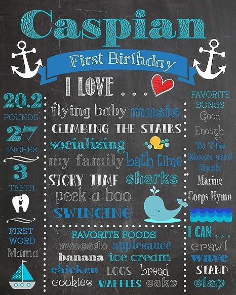 Dozili - Póster Personalizable para el Primer cumpleaños ...