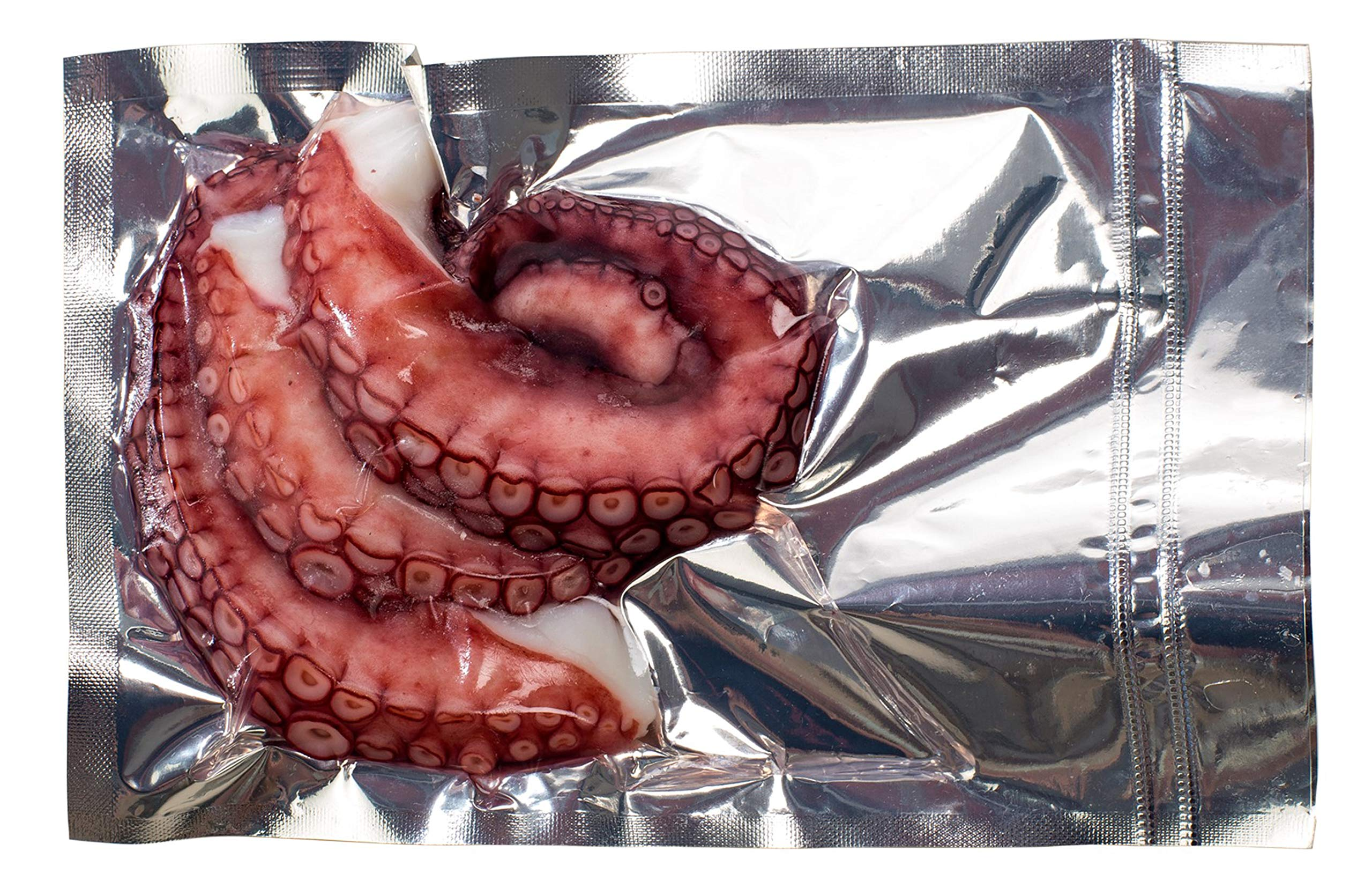 Ancavico Frozen Cooked Octopus Tentacles 6 Oz ( 170 grams ) Vacuum closed bag (Cooked, Pack of 14)
