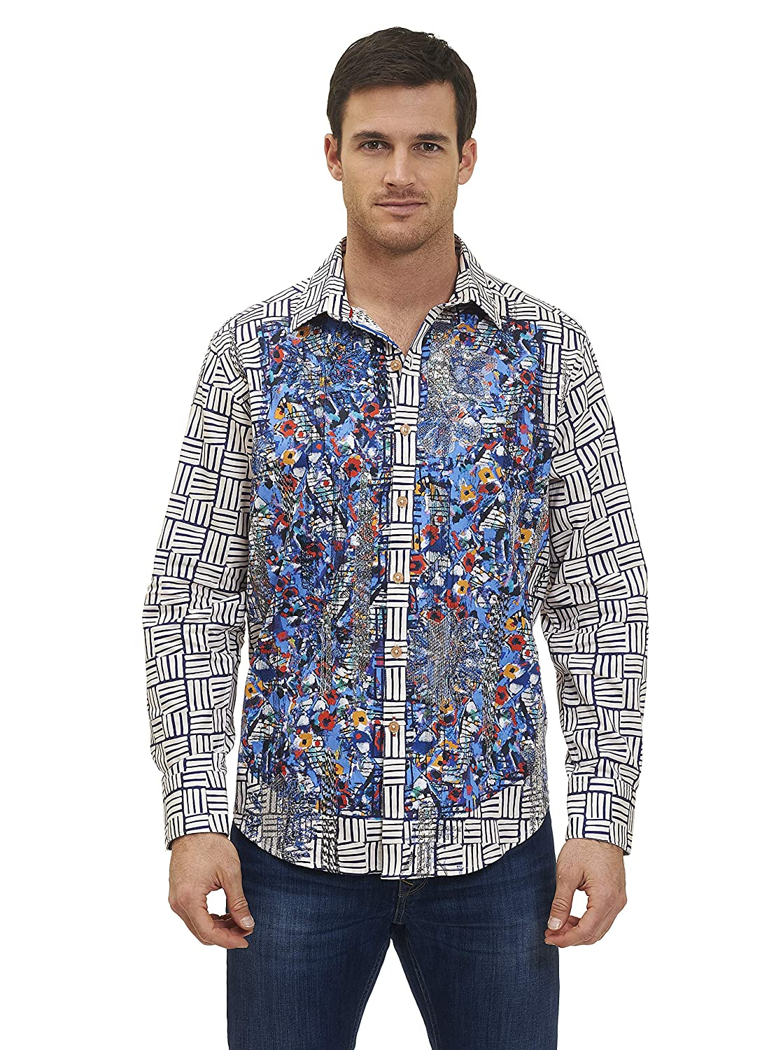 224cc1beb54f2 Robert Graham Ruwallah Printed Pattern Sport Shirt Classic Fit RS161417CF