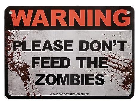 Amazon.com: Metal Sign – por favor, no alimentar a los ...