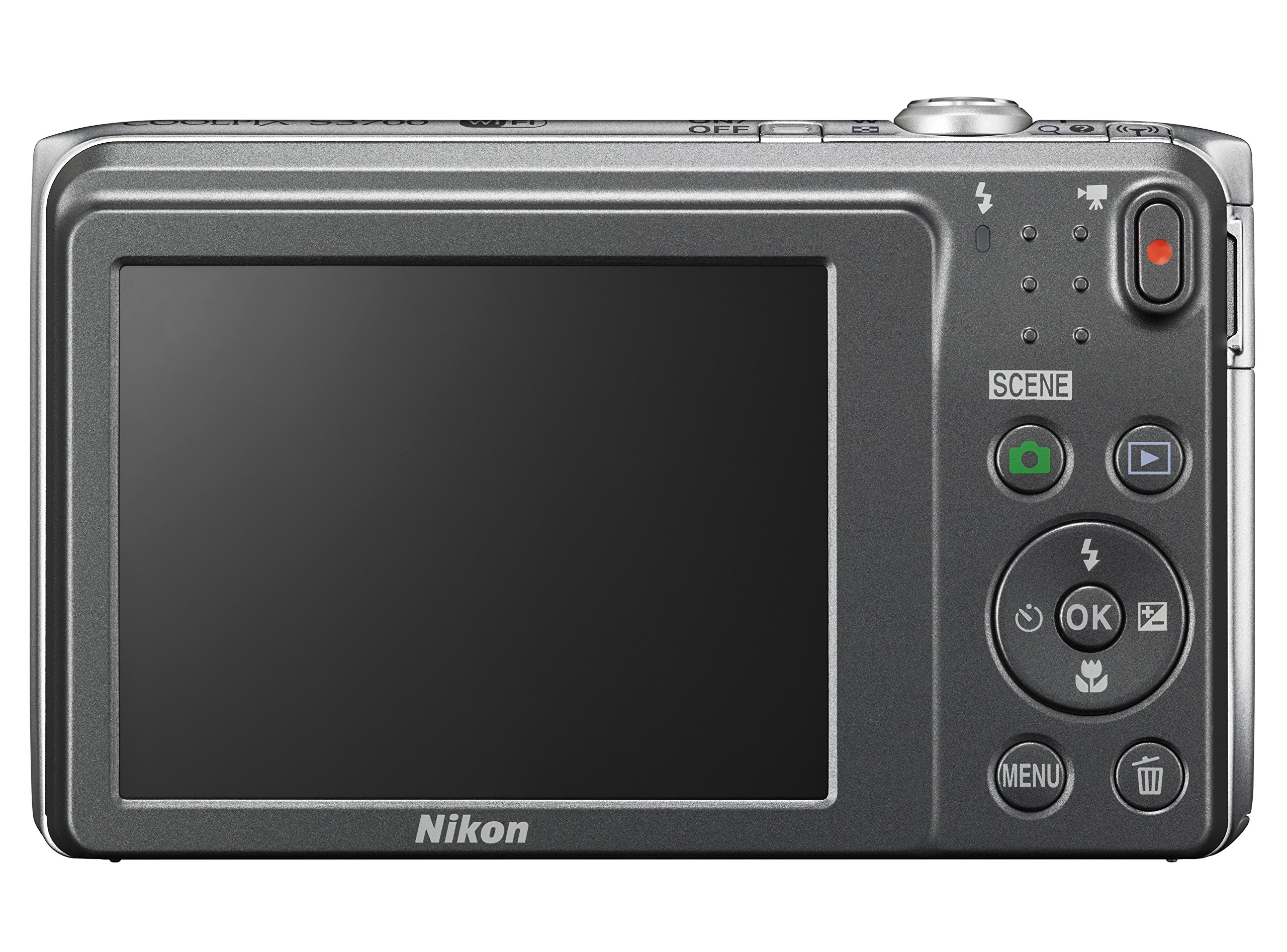 Nikon COOLPIX S3700 Digital Camera with 8x Optical Zoom and Built-In Wi-Fi (Silver) by Nikon (Image #2)