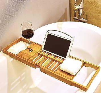 Rutschfestes Badewannentablett Aus.. Relaxdays Ausziehbare Badewannenablage Mit Dem Besten Service