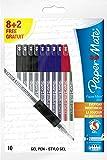 Paper Mate 300 - Juego de bolígrafos de tinta de gel (10 unidades), multicolor