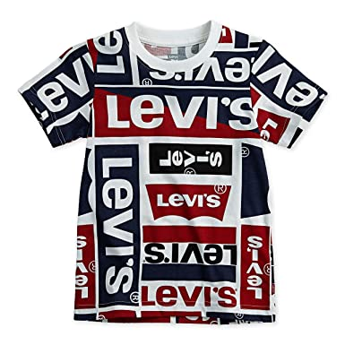 6da3c2cebf Amazon.com  Levi s Boys  Basic Logo T-Shirt  Clothing