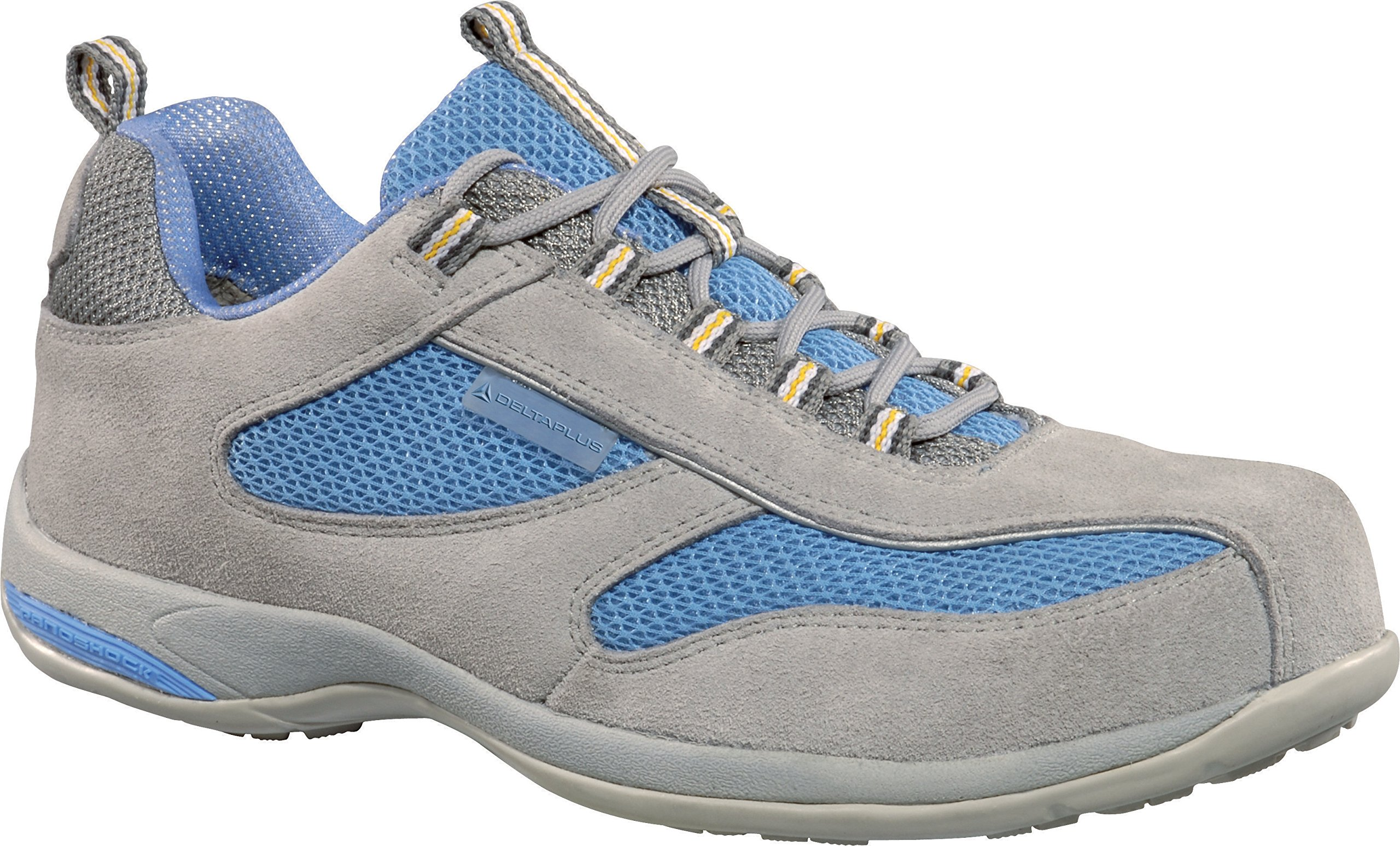 Deltaplus Women's Footwear Antibes Split Blue / Grey Leather/Suede Safety Trainer Shoes US Size 9