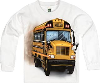 product image for Shirts That Go Little Boys' Long Sleeve Big Yellow School Bus T-Shirt