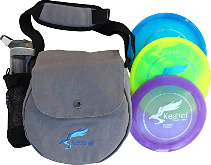 Kestrel Discs Golf Pro Set | 3 Disc Pro Pack Bundle and Small Bag | Disc Golf Set | Includes Distance Driver, Mid-Range and Putter | Small Disc Golf Bag best golf set