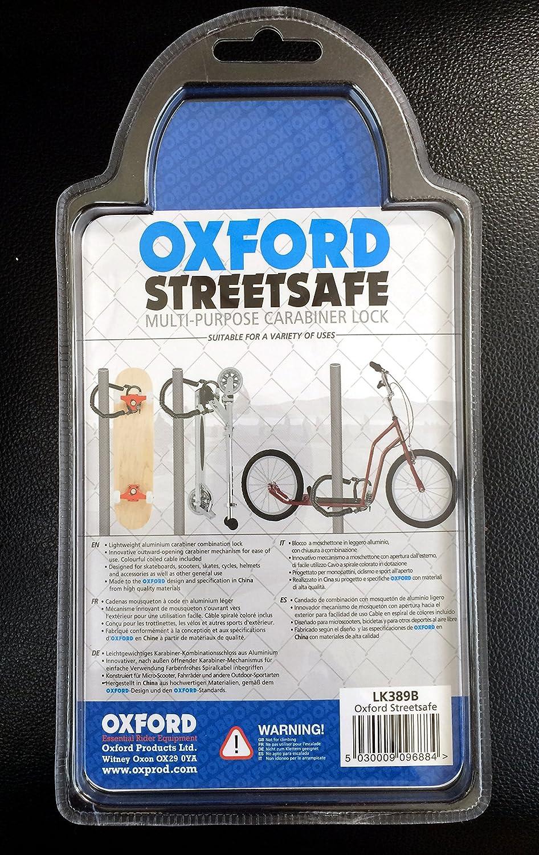 Scooter Bike Combination Lock LK389B Oxford StreetSafe Skateboard