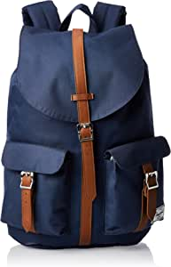 Herschel Supply Co. Dawson Backpack, Navy/Tan Synthetic Leather,One Size