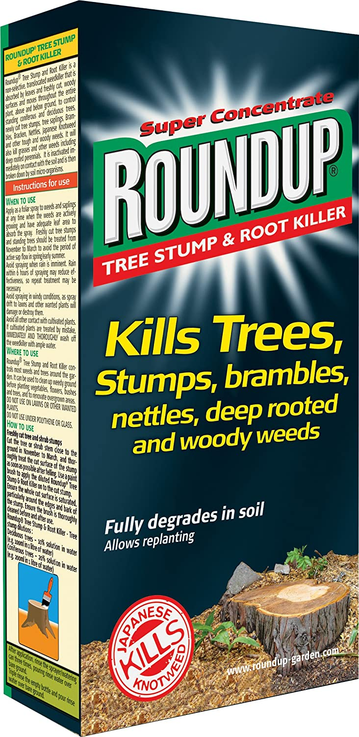 Roundup Tree Stump and Root Killer 250 ml Liquid Concentrate ...