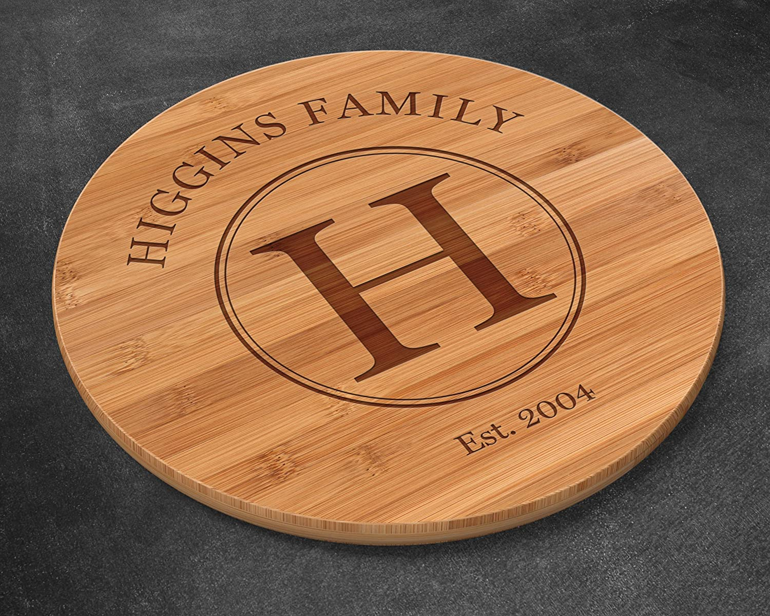 Wife Gift Wedding Gift Bamboo Cutting Board Turntable Lazy Susan Turntable Lazy Susan Bamboo Anniversary Gift Engraved Lazy Susan Personalized Wedding Gift Personalised Lazy Susan