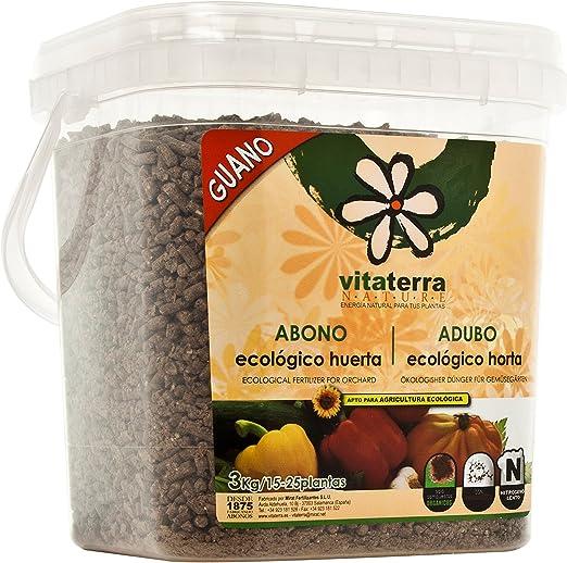 Vitaterra Guano Abono Ecológico para Huerto 3 kg, 16130: Amazon.es ...