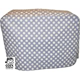 Cozycoverup® Dust Cover for Kenwood Food Mixer in Silver Polka (MultiOne)