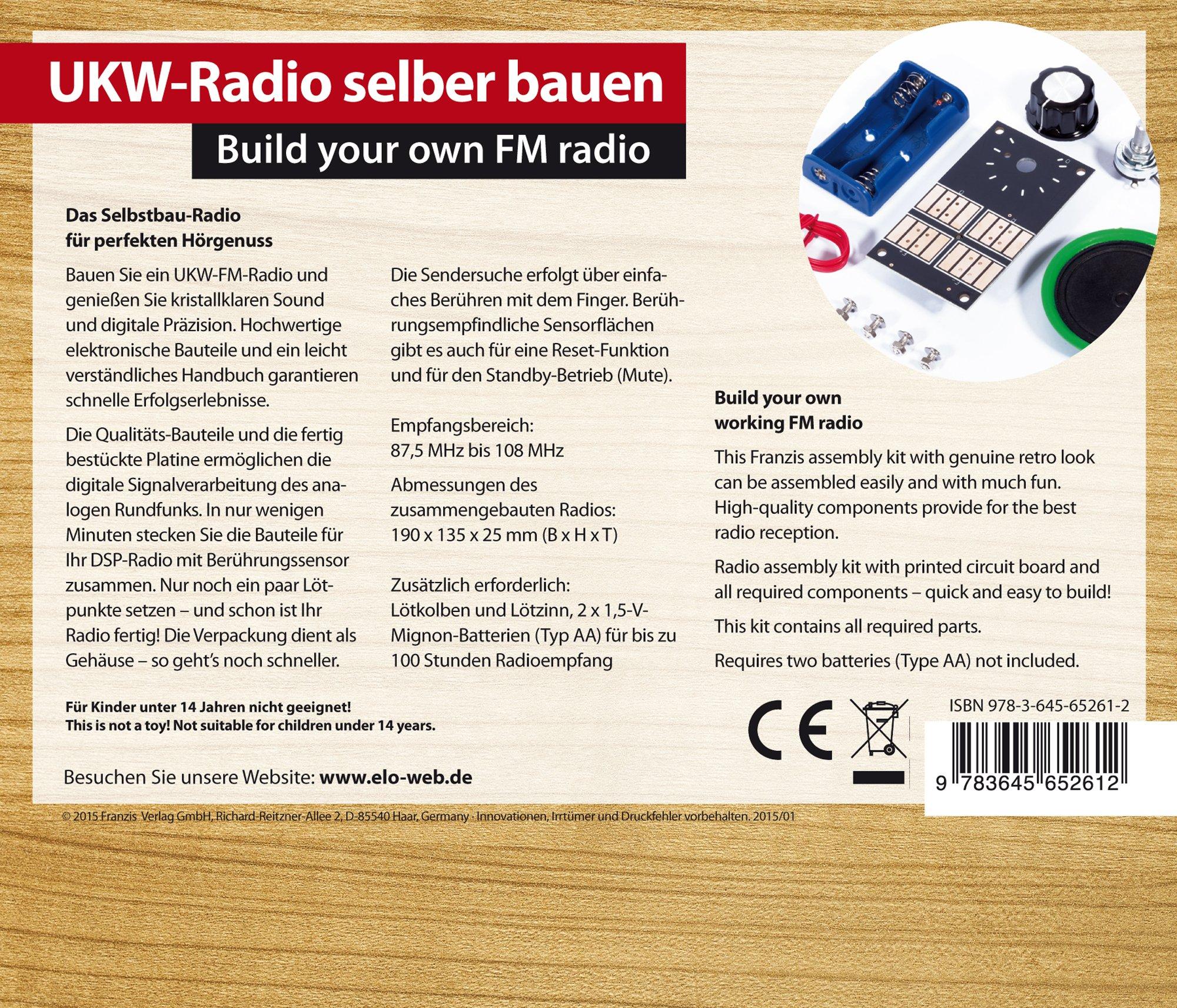 Franzis Build Your Own FM Radio Kit & Manual: Amazon.co.uk: Franzis ...